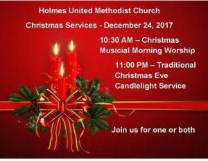 Holmes United Methodist Church Christmas Service