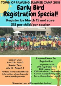 Town of Pawling Summer Camp 2018