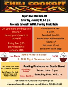 Pawling Public Radio Chili Cookoff!