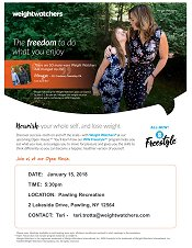 Weight Watchers Open House January 15, 5:30 PM – Pawling Recreation