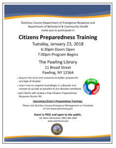 Dutchess County Emergency Response to Facilitate Citizens Preparedness Training in Pawling